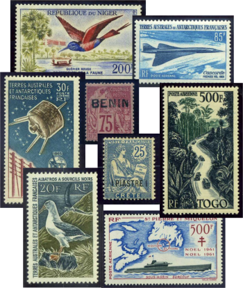 stamp collage